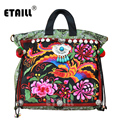 Vintage Indian Embroidery Ethnic Bags for Women Handmade Boho Hmong Handbags Women Famous Brands 2016 with Logo Sac a Dos Femme