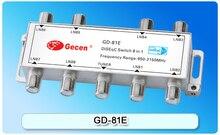 GD-81E 8×1 DiSEqC Receptor Satélite LNB 950-2150 MHz Baja Pérdida 8×1 DiSEqC LNB satélite Interruptor