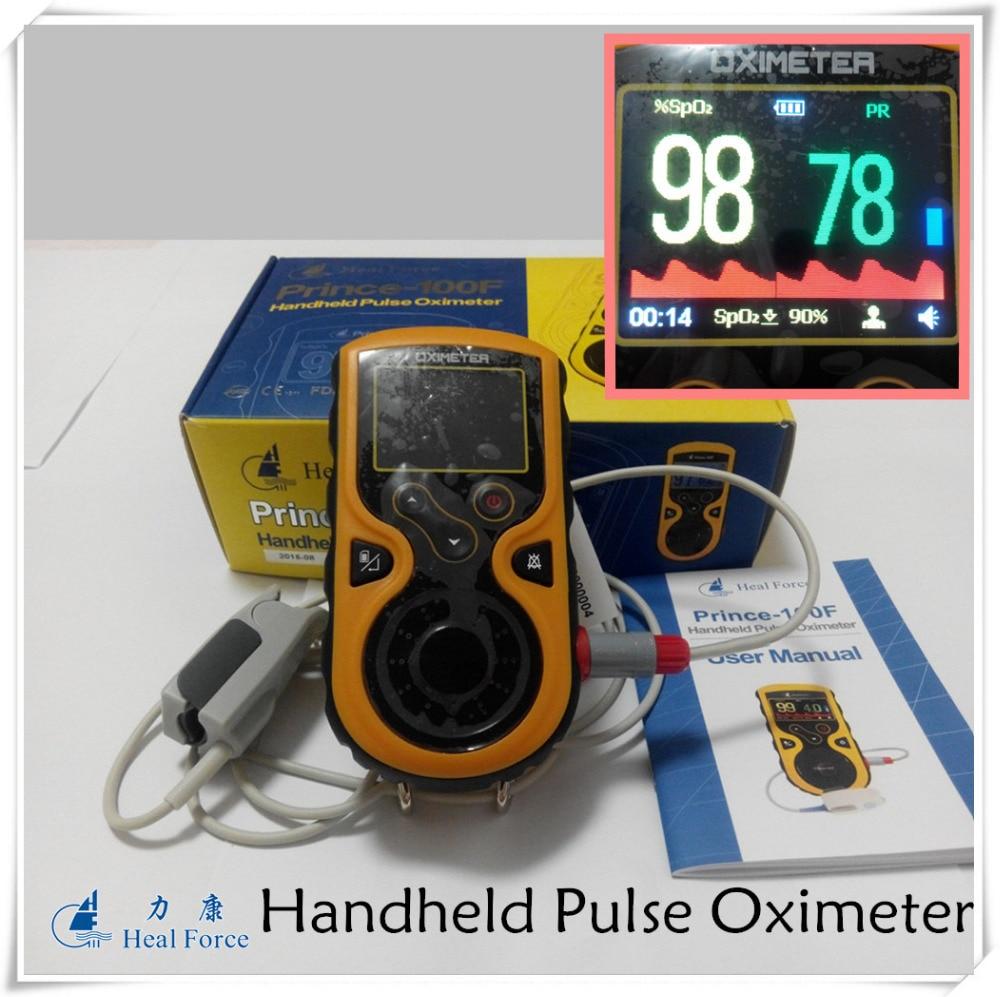Prince100F Handheld Pulse Oximeter with Adult SPO2 sensor