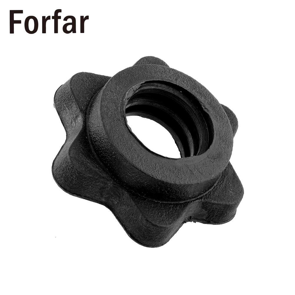 Forfar Pair Vinyl Spinlock Collars Fit For 1 Standard Weight Lifting Barbells Dumbbell Training Gym Useful Sport Goods