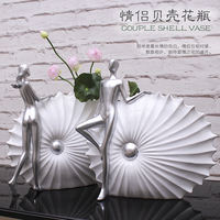 The simplicity of modern high grade shell wave couples living room TV cabinet Home Furnishing Vase Decoration decoration