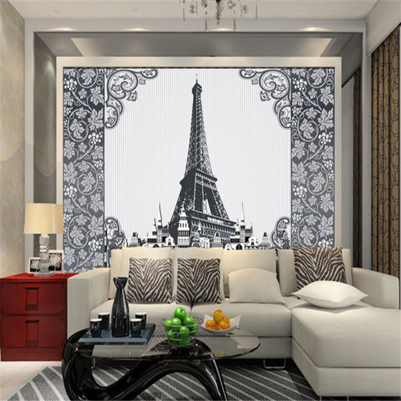 custom any size 3d photo wallpaper wall mural 3d wallpaper elegant classic European TV sofa background wall for study room