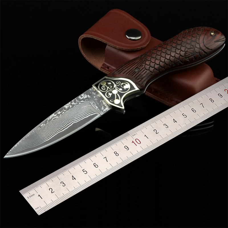 Free shipping High-end sharp Damascus steel blacksmithing camping tool folding knife outdoor the Precious gift knife mars madam free shipping damascus steel imports blacksmithing collection tool knife folding knife outdoor self defense knife