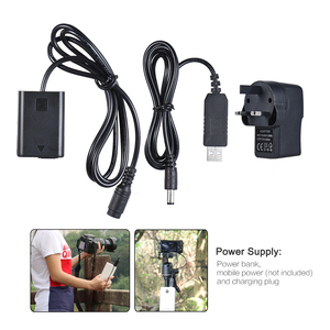 Image 2 - Andoer NP FW50 Dummy Battery + 5V 3A USB Power Adapter Cable for AC PW20 for Sony NEX 3/5/6/7 Series A33 A37 A35 A55 a7 a7R etc