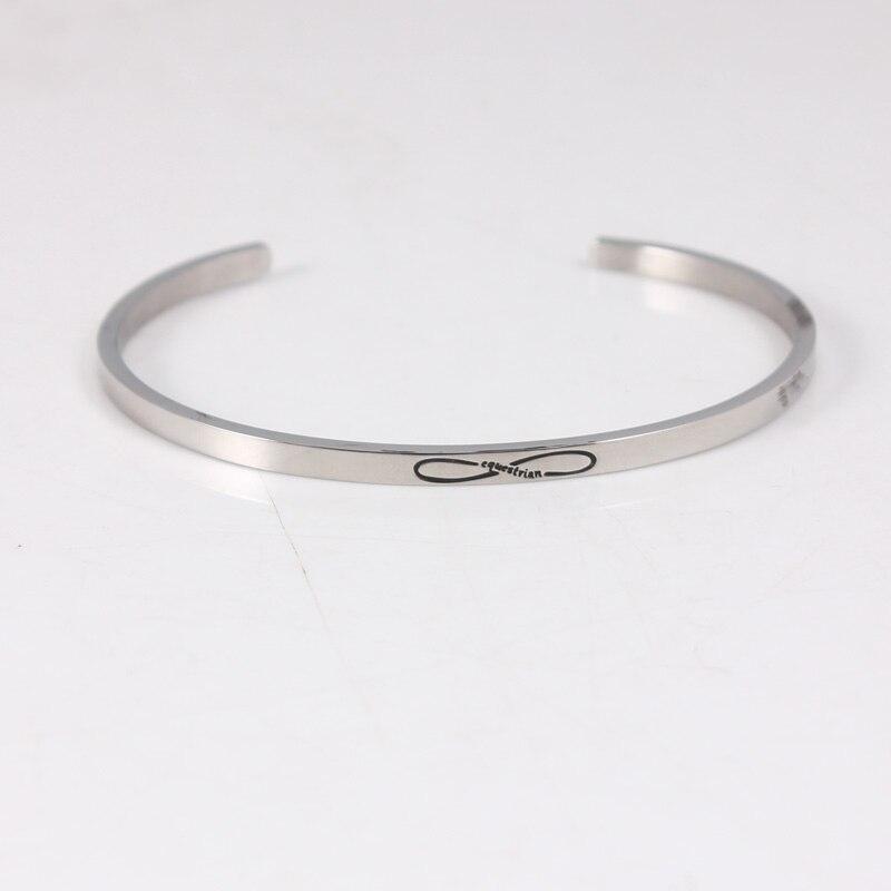 Endless Love Inspirational Bracelet 316 Stainless Steel ID Bracelet Bangles Personalized Men Jewelry Letters Bracelet 10pcs/lot opk biker stainless steel men bracelet