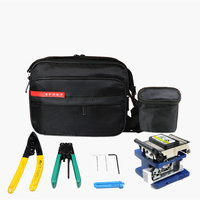 6 in 1 Fiber FTTH Tool Kit with Fiber Optic Stripper and FC 6S Optical Fiber Cleaver Cutter and Cleaning Wipes