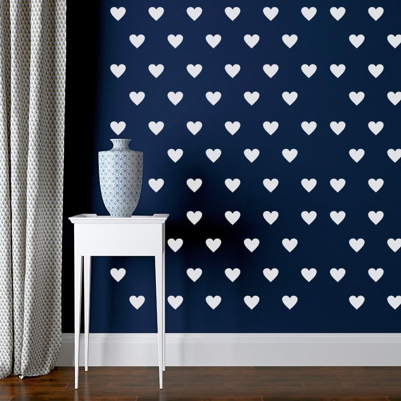Multicolor little heart wall stickers decals 709 wedding for Poster mural zen deco