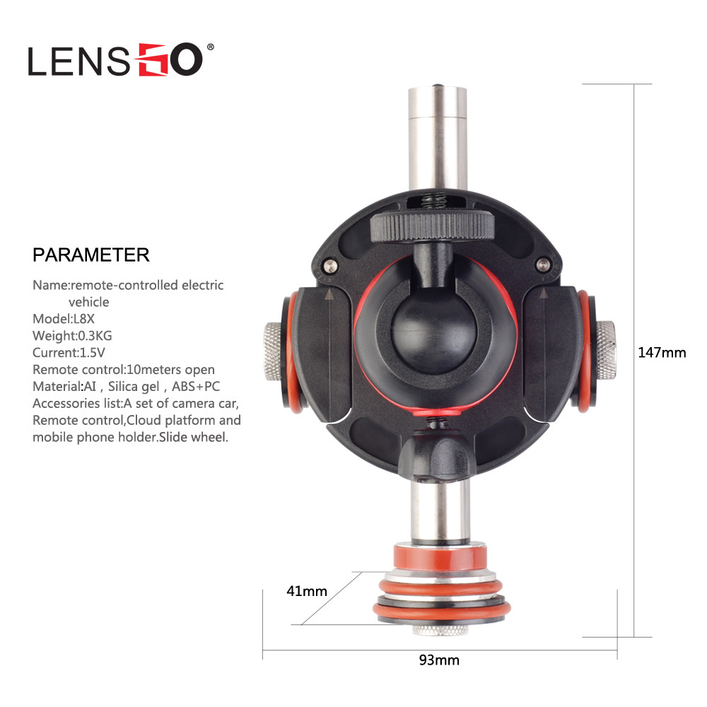 Image 5 - LENSGO Camera Video Track dolly Motorized Electric Slider Motor Dolly Truck  for Nikon Canon DSLR camera DV Movie Vlogging Gear-in Remote Controls from Consumer Electronics