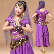 Kid Girls Belly Dancing Costume Set Kids Indian Dance Costumes For Girls Performance Children Girl Bellydance Girl Egypt Dance(China)