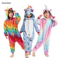 Детские кигуруми Единорог пижамы для девочек аниме панда Тоторо Onesie  детский костюм единорог пижамы мальчиков Детский cc7b949e09d89