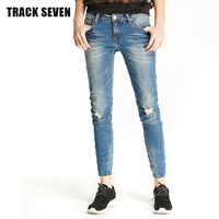 PISTA SETE Mulheres Calça Jeans Longo Jeans Outono Senhora Confortável Corpo Magro Elástico Calças Lápis Denim Calças