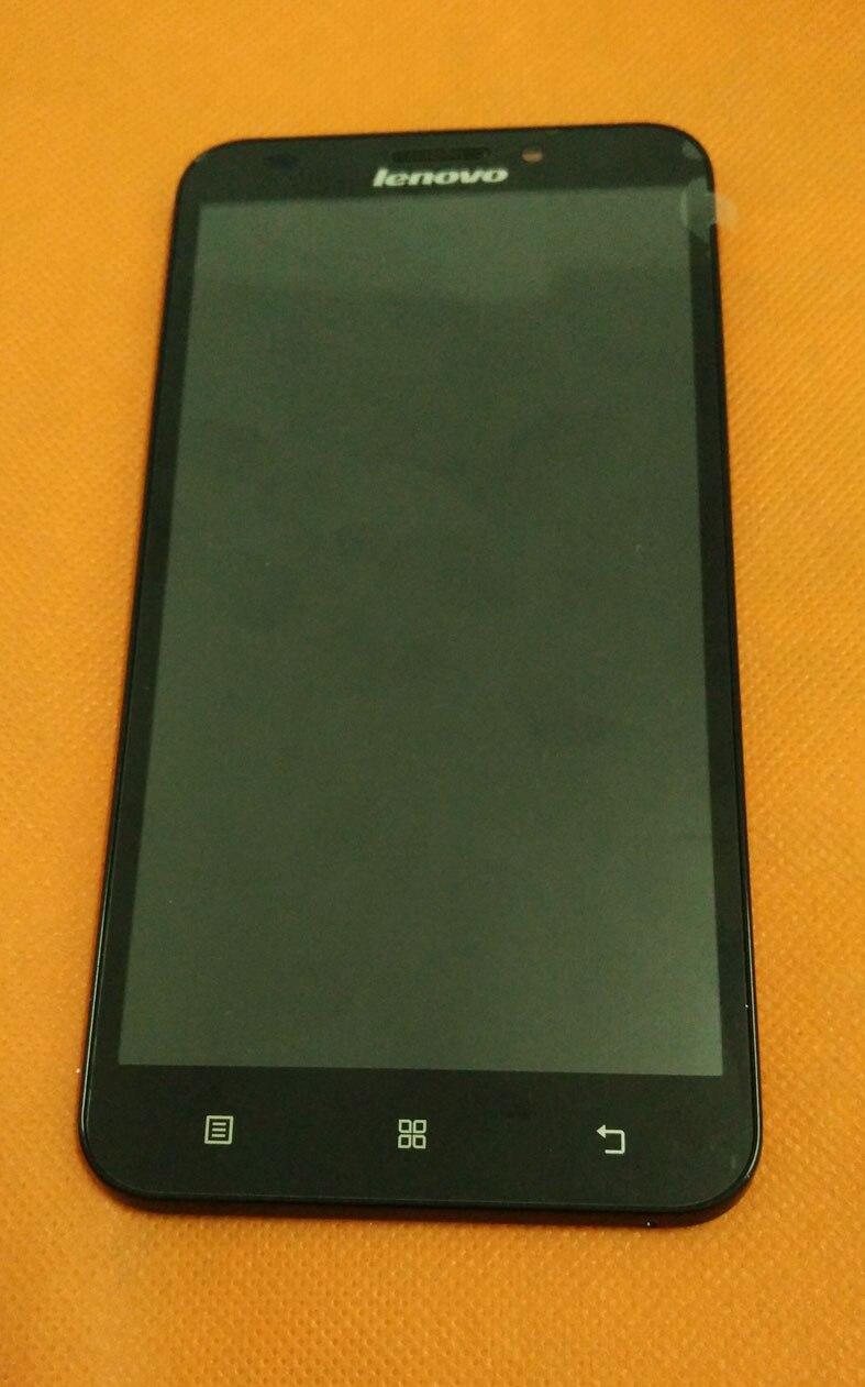"""Цена за Использовать оригинальный ЖК-дисплей Дисплей + Сенсорный экран + рамка для Lenovo A916 MTK6592 Octa Core 5.5 """"HD 1280x720 4 г LTE Бесплатная доставка"""