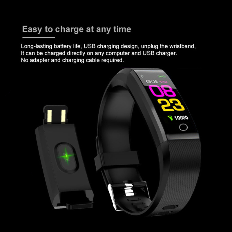 New Smart Band Waterproof With Heart Rate Monitor Smart Bracelet Fitness Tracker Pedometer Wristband For Women Men Sport Watch Easy To Repair Back To Search Resultswatches