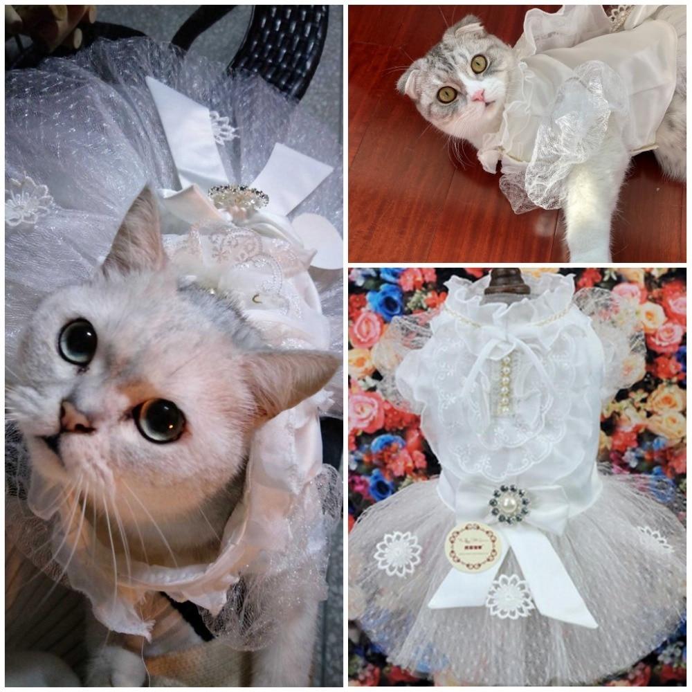 Veshjet e vogla të dasmës për macet Princesha qen Vjeshja për - Produkte për kafshet shtëpiake - Foto 6