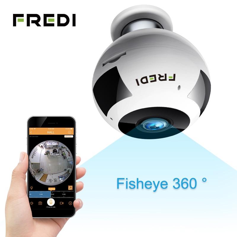 FREDI 360 Grad Panorama IP Kamera WiFi Wireless 960 P Fisheye Home Security CCTV Kamera Zwei-wege Audio Überwachung Kamera