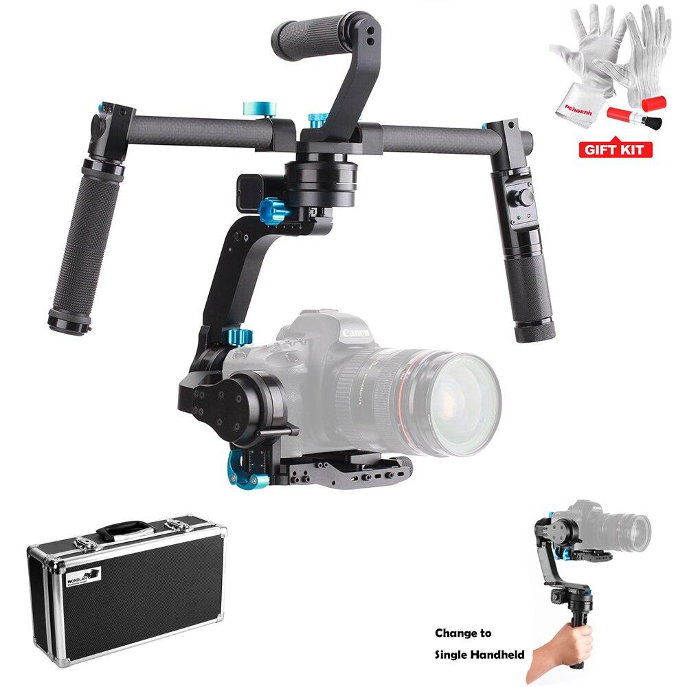 Wondlan Skywalker SK02 32-bit Controller 3-Axis Gimbal Stabilizer + Dual Hand Grip+Remote Control for DSLR Camera and Mirrorless аксессуары для видеокамеры wondlan 5d2 ii