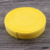 Yellow 30yards 16MM Wide Wholesale Solid Fold Over Elastic Ribbon For Girls Headbands Hair Ties Foe Elastic For Hair Accessories