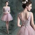 Cóctel de encaje corto vestidos fiesta 2015 personalizado más el tamaño de vestido vestido de noiva
