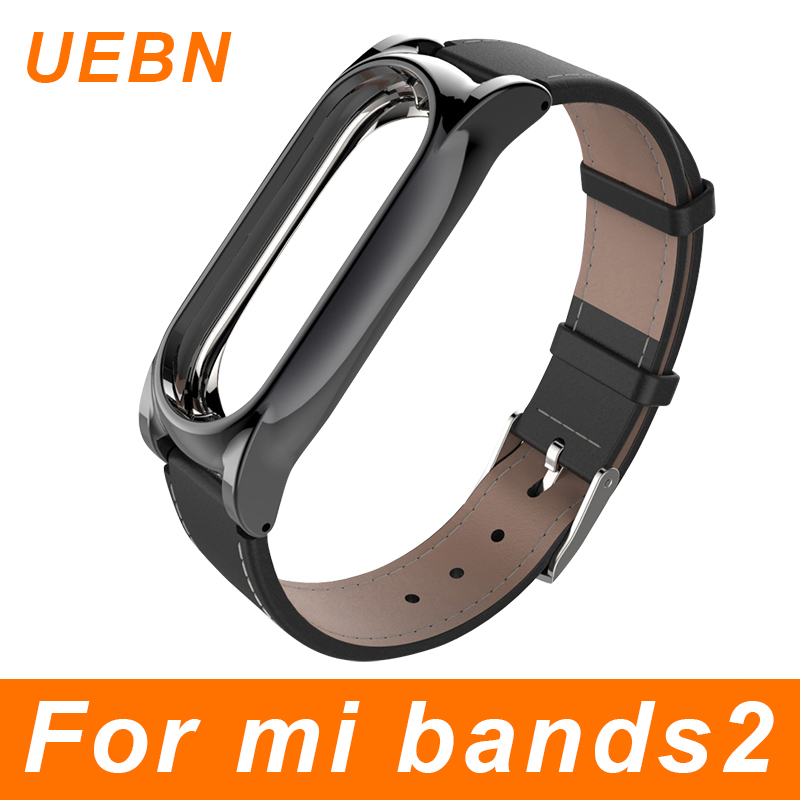 все цены на UEBN Pulsera Xiaomi Mi Band 2 Strap For Mi band 2 Leather Screwless bracelet Replacement Band Accessories miband 2 strap онлайн