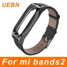 UEBN Pulsera Xiaomi Mi Banda 2 Correa Para Mi banda 2 Sin Tornillos Accesorios Banda miband pulsera Reemplazo 2 correa de Cuero