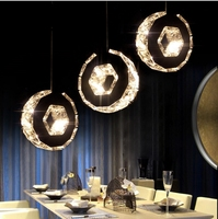 Estaurant Lights LED Crystal Chandeliers Three Warm Bar Table Lamp Personality Round Dining Room Lights Table