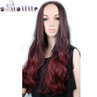 S Noilite 64CM Real Natural Long Curly Half Head Wig Heat Resistant 3 4 Full Wigs