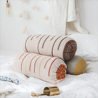 Hap deer new pure cottom knitting rond cushions with pillow multi functional pillows household soft cojines decoracion cama