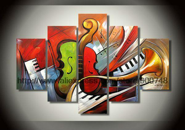 Selling Abstract Musical Instrument Theme Home Wall Art