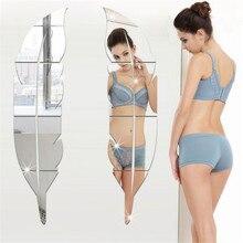 73*18 см Акриловая Зеркальная Наклейка с перьями, украшение для дома, самоклеящееся зеркало для гостиной, сделай сам, 3D наклейка для дома, фрески, Настенный декор