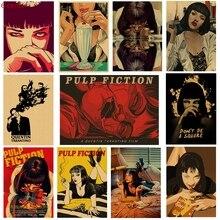 Целлюлозная фантастика, киноплакаты, плакаты из крафт-бумаги, Наклейки на стены, винтажные плакаты, декоративные картины, постеры для рисования