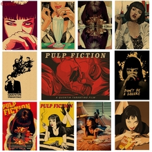 Pulp fiction, film posters, kraft paper wall stickers, vintage decorative paintings, painting posters