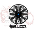 "Kylin Store -- 12Inch Universal 12V 80W Slim Reversible Electric Radiator AUTO FAN Push Pull With mounting kit  S 12"" Black"