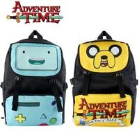 Adventure Time BMO Rugzak Blauw Beemo Canvas Schooltas Nieuwe/wtag 45x30x16 cm