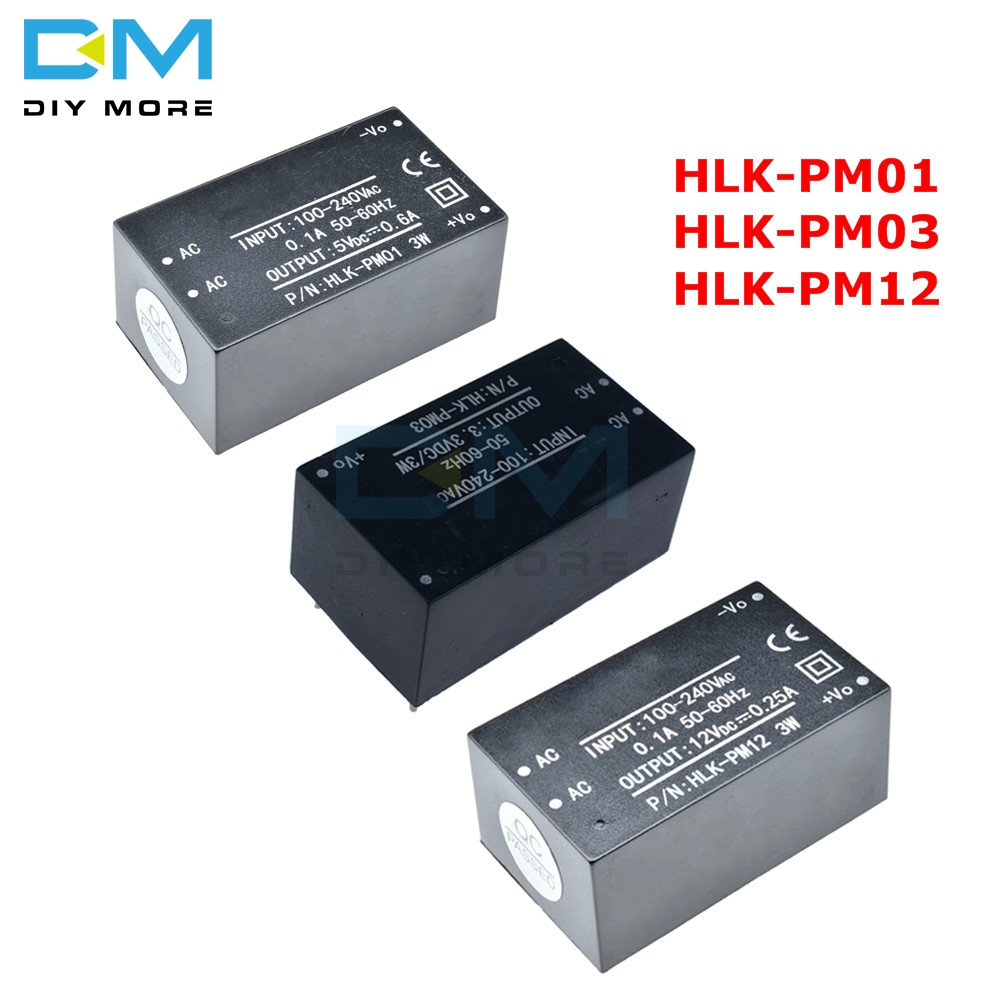 HLK-PM01 HLK-PM03 HLK-PM12 <font><b>AC</b></font>-<font><b>DC</b></font> 220V to 5V/<font><b>3.3V</b></font>/12V Step-Down mini <font><b>Power</b></font> <font><b>Supply</b></font> Intelligent Household Switch <font><b>Power</b></font> <font><b>Module</b></font> image