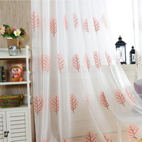 New High Grade Embroidery Screens Tulles Shade Contracted Rural Style Living Room Bedroom Light Decoration Tulles