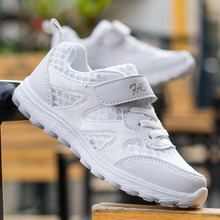 Boy/Girls White Kids Sneakers Childrens Mesh Breathable Non-slip Sport Running Shoes Lightweight Walking Shoe