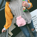 New Plush Ladies Handbags Diagonal Package Sweet Lovely Bucket Bag Women's Handbags Single Shoulder Messenger Bags