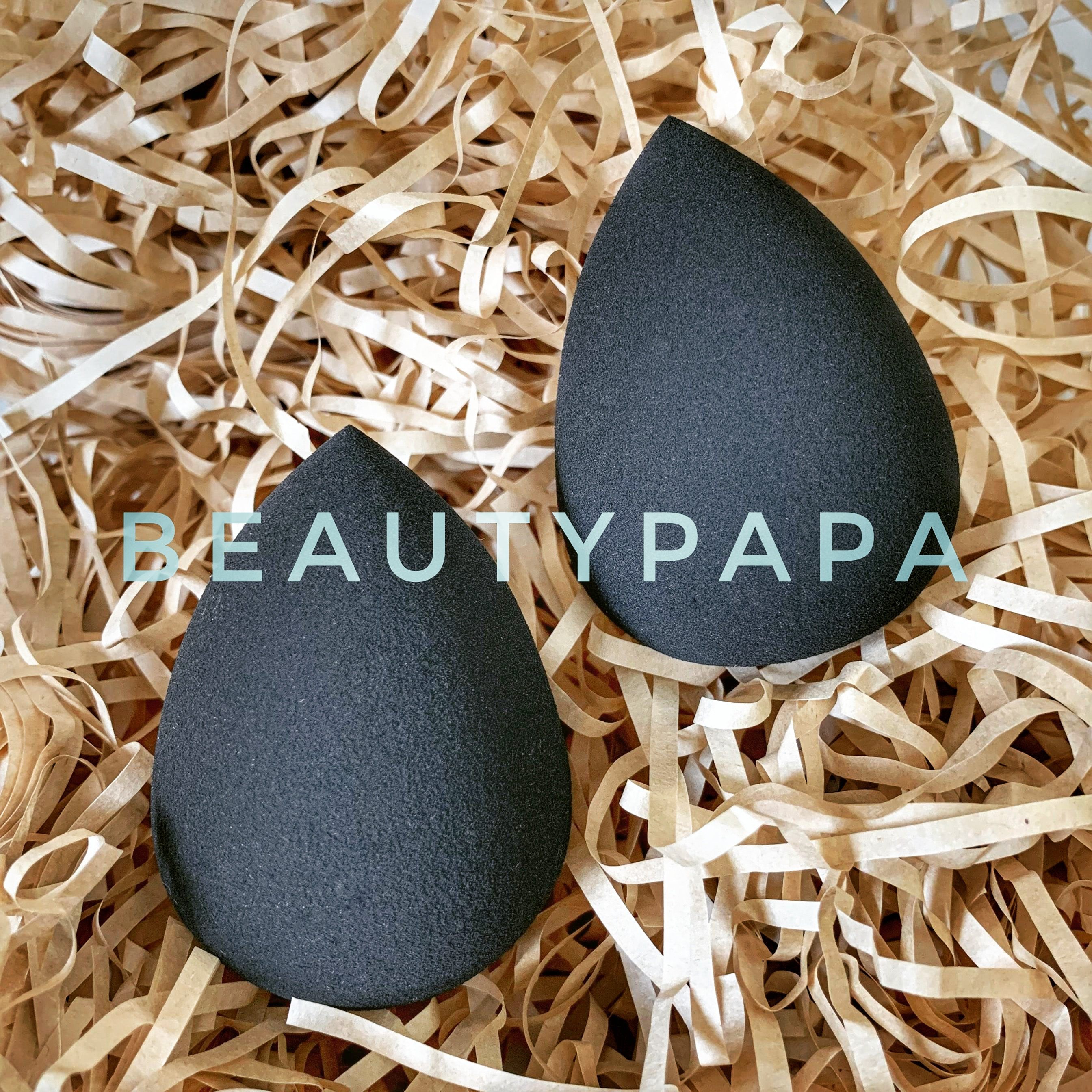 BeautyPaPa 2pcs Black Makeup Sponge Applicator Super Soft Beauty Make up Tools Powder Smooth Foundation Blending Cosmetic Puffs(China)