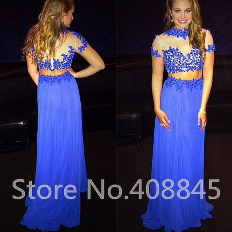 Compare Prices on Short Royal Blue Two Piece Prom Dresses 2016 ...