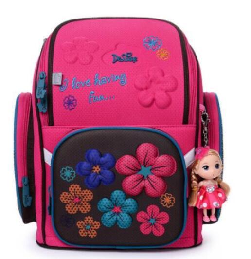 Delun детские ортопедические рюкзаки школьные рюкзак сумка для девочек студент рюкзак Mochila России Стиль 3D школьная сумка детей