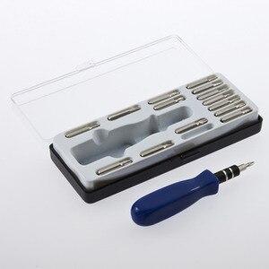 Прецизионная отвертка Torx, набор инструментов для ремонта iPhone, сотовый телефон, планшет, ПК T5 T6 T8 T10 T15 бит PH0 PH1 PH2, 15 шт.