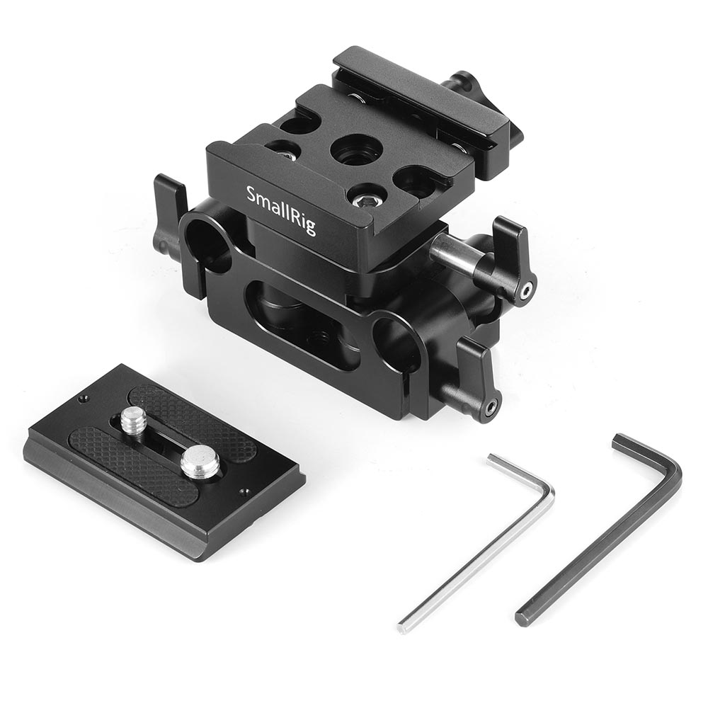 Image 2 - SmallRig DSLR Camera Plate Clamp Bracket Universal 15mm Rail Support System With Quick Release Arca Plate High Adjustable 2272-in Tripod Monopods from Consumer Electronics