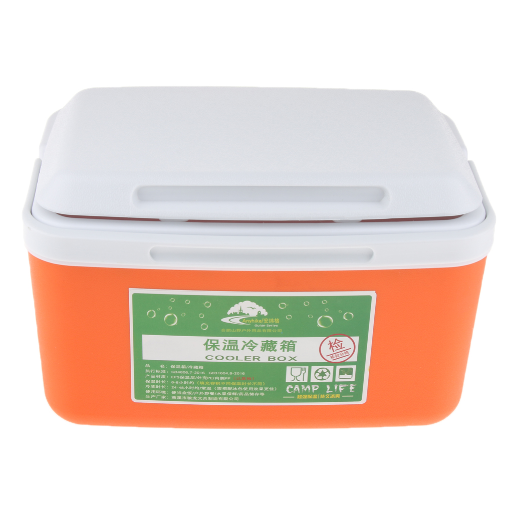 Outdoor Ice Bucket Drinks & Cooler Box Insulated Box 8L for Home Car Outdoor BBQ Picnic Fishing Camp Cooking Supplies