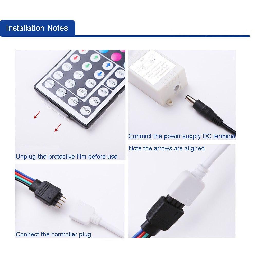 50 200 Cm Usb Led Strip Rumah Ruang Tamu Kamar Cahaya Tv Kembali Wiring Lampu 2835rgb Warna Berubah Remote Control Dc 5 V String Di Dari