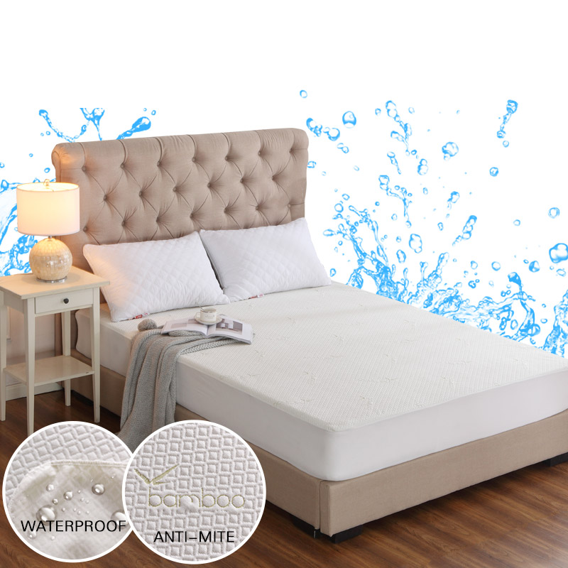 Bamboo Knitting Jacquard Anti Mite Bed Mattress Protection