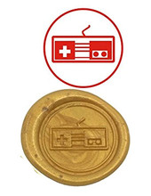Vintage Game Button Custom Luxury Wax Seal Sealing Stamp Brass Peacock Metal Handle Sticks Melting Spoon Wood Gift Box Set