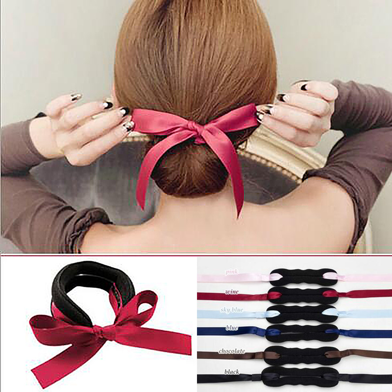 1 copë Braider flokësh Koreane, Rripa sfungjerë rrip Twister Bun - Kujdesi dhe stilimi i flokëve