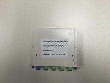 Envío gratis 2 unids/lote 1 x 4 LGX Box tarjeta de Cassette inserción SC / APC módulo divisor PLC 1:4 4 Ports fibra óptica PLC divisor