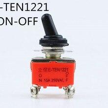 1 шт. E-TEN1221 15A 250VAC 4PIN ВКЛ-ВЫКЛ тумблер кулисный переключатель питания микропереключатель оранжевый