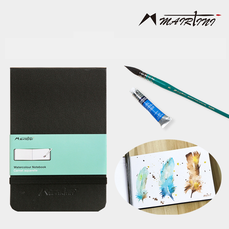 Martini watercolor 300g watercolor paper hand book postcard hand-painted sketchbook travel portable painting pocket art supplies